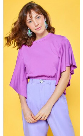Blusa Cropped Violeta Lov.it atacado