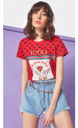 T-shirt Gucci World lov.it atacado