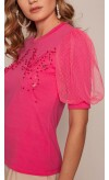 T-shirt Renda Butterfly lovit atacado