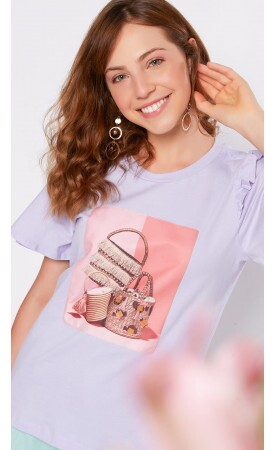 T-shirt Bolsa Glam lov.it atacado