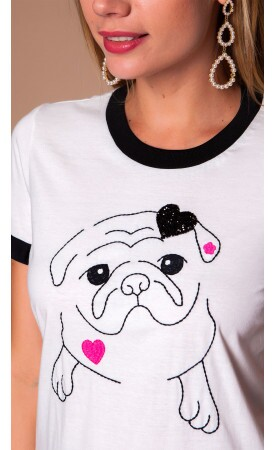 T-shirt Cute Pug Lov.it atacado