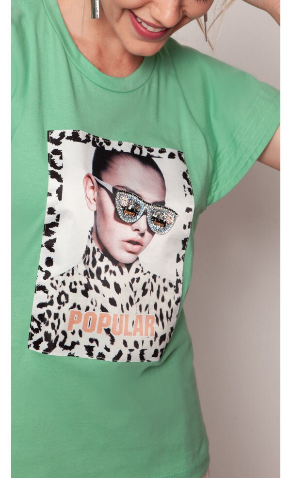 T-shirt Popular  lov.it atacado