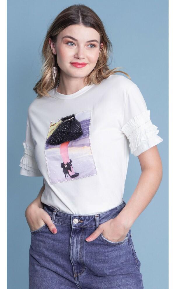 T-shirt Saia Tule Lov.It atacado